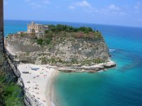 Tropea overview - Santa Maria dell'Isola Church