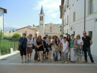 Students form Italian Affair Tour, from Melbourne Australia, learn Italian in Spoleto, with Artelingua!