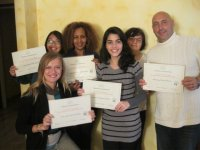 Students receive their Diploma after the italian and cooking week!